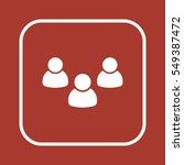 people  icon vector. flat... | Shutterstock .eps vector #549387472
