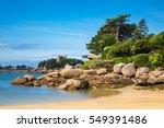 Pink Granite Coast In Brittany...