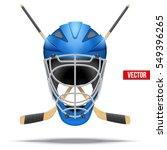 ice hockey symbol with goalie... | Shutterstock .eps vector #549396265