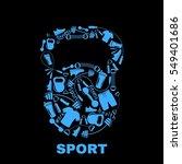 sports equipment inside... | Shutterstock .eps vector #549401686