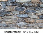 Stone Wall. Outdoor Background...