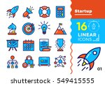 vector collection of line icons ... | Shutterstock .eps vector #549415555