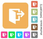 exit icons on rounded square... | Shutterstock .eps vector #549418972