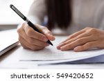 cropped view of employee... | Shutterstock . vector #549420652