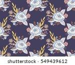 seamless pattern of flower...   Shutterstock .eps vector #549439612