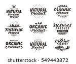 natural  organic product icons... | Shutterstock .eps vector #549443872