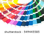 color palette  guide of paint... | Shutterstock . vector #549445585