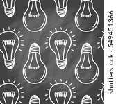 lamp light bulb hand drawn... | Shutterstock .eps vector #549451366