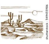 vector sketch america.... | Shutterstock .eps vector #549455986