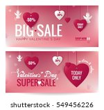 sale header or banner set with... | Shutterstock .eps vector #549456226