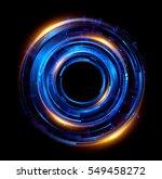 Orb Neon Rays. Luminous Hole....