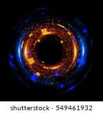 orb neon rays. luminous hole....   Shutterstock . vector #549461932