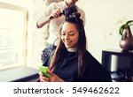 beauty  hairstyle and people... | Shutterstock . vector #549462622