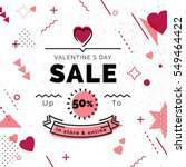 valentine's day sale poster... | Shutterstock .eps vector #549464422