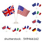 set flags. symbolizing the... | Shutterstock .eps vector #549466162