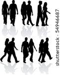 couples | Shutterstock .eps vector #54946687