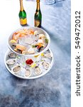 icy  tiered seafood platter... | Shutterstock . vector #549472012