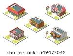 vector isometric icon set... | Shutterstock .eps vector #549472042