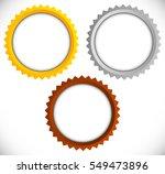 gold  silver  bronze medals... | Shutterstock .eps vector #549473896