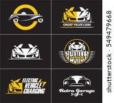 Car Logos And Icons Set ...