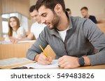 preparing his project. shot of... | Shutterstock . vector #549483826