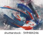 abstract painted background  ... | Shutterstock . vector #549484246