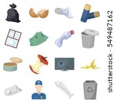 trash and garbage set icons in... | Shutterstock .eps vector #549487162