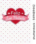 card cover with message  feliz... | Shutterstock .eps vector #549489442