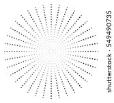 Dotted Radial Element. Circle ...