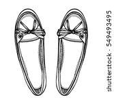 Monochrome Vector Female Shoes...