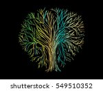 tree hand drawing illustration... | Shutterstock .eps vector #549510352