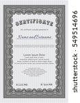 grey certificate or diploma... | Shutterstock .eps vector #549514696