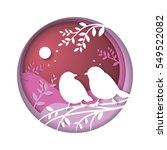 concept of love and valentine... | Shutterstock .eps vector #549522082