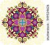 abstract flower mandala....   Shutterstock . vector #549524626