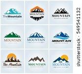 mountain logo template  ... | Shutterstock .eps vector #549541132