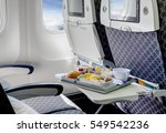 food served on board of... | Shutterstock . vector #549542236