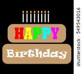 happy birthday card | Shutterstock .eps vector #549543016