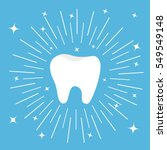 healthy tooth icon. round line... | Shutterstock .eps vector #549549148