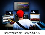 back of male musician playing... | Shutterstock . vector #549553702