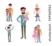 father and kids together... | Shutterstock .eps vector #549560962