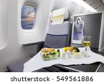 food served on board of... | Shutterstock . vector #549561886