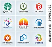 logo template collection  | Shutterstock .eps vector #549563032