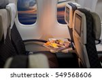 food served on board of economy ...   Shutterstock . vector #549568606