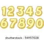 block numbers | Shutterstock .eps vector #54957028
