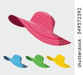 woman hat illustration vector... | Shutterstock .eps vector #549572392