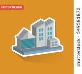industry design on clean... | Shutterstock .eps vector #549581872