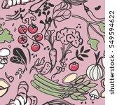 vegetable seamless pattern | Shutterstock .eps vector #549594622