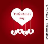 valentine's day sale offer ... | Shutterstock .eps vector #549597676