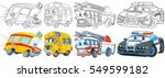 cartoon transport set.... | Shutterstock .eps vector #549599182