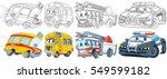 cartoon transport set.... | Shutterstock .eps vector #549599182